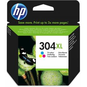 HP N9K07AE (304XL) Printhead cartridge color, 300 pages @ 5%...
