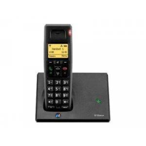 British Telecom Diverse 7110 DECT telephone Black Caller ID
