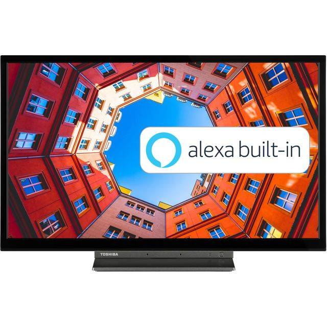"""Toshiba 24WK3A63DB 24"""" Smart 720p HD Ready TV with Alexa Built-in"""
