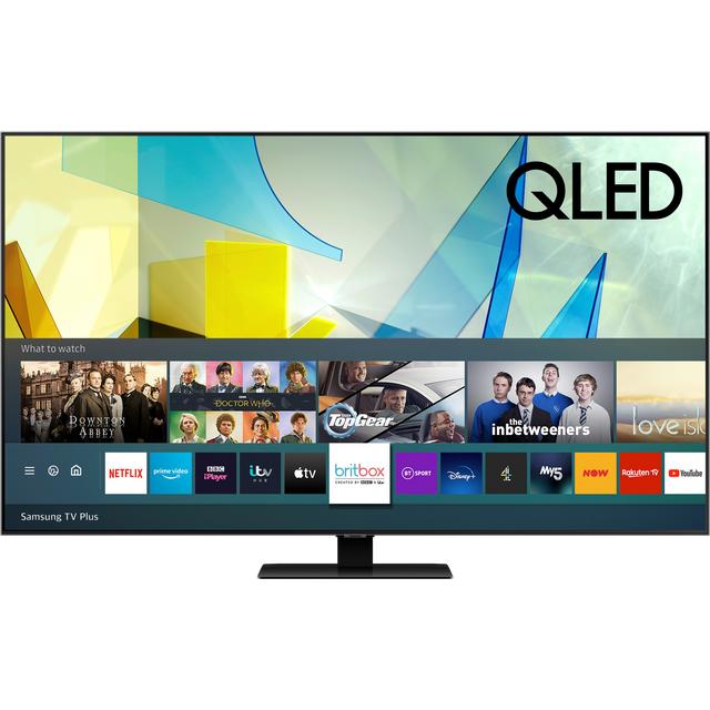 "Samsung QE55Q80TA 55"" Smart 4K Ultra HD QLED TV With Quantum Processor, Direct Full Array and Adaptive Sound +"