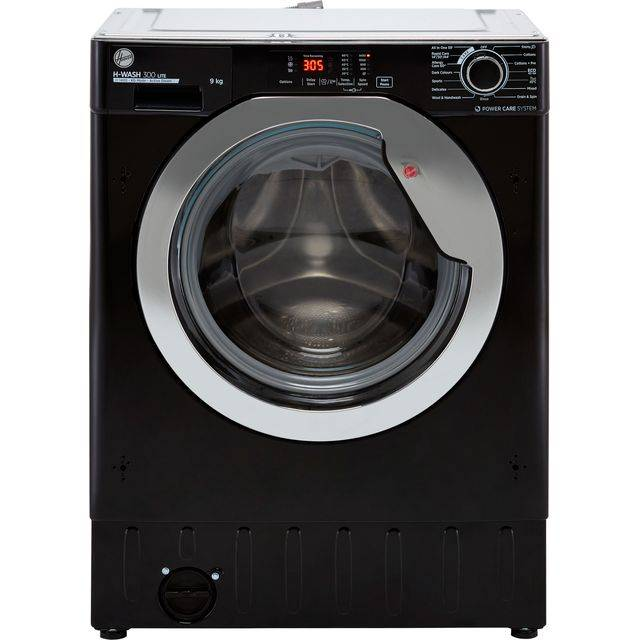 Hoover H-WASH 300 LITE HBWS49D3ACBE Integrated 9Kg Washing Machine with 1400 rpm - Black - C Rated
