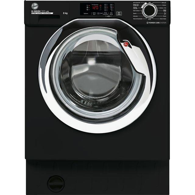 Hoover HBWS48D3ACBE Integrated Washing Machine with 1400 rpm - Black - C Rated