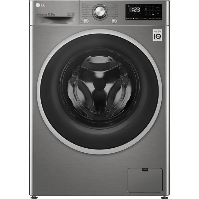 LG FAV310SNE 10.5Kg Washing Machine with 1400 rpm - Graphite - B Rated