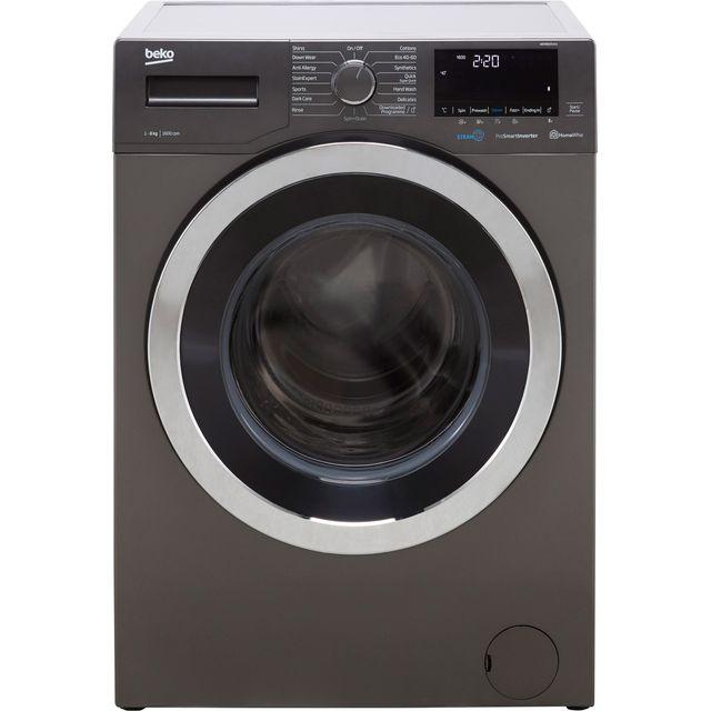 Beko WER860541G 8Kg Washing Machine with 1600 rpm - Graphite - C Rated