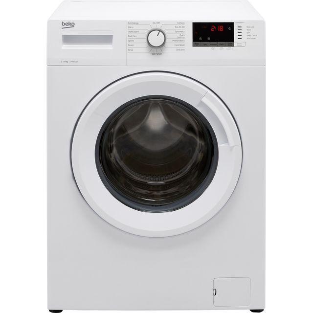 Beko WTK104151W 10Kg Washing Machine with 1400 rpm - White - B Rated