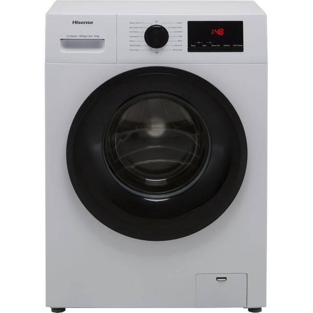 Hisense WFPV6012EM 6Kg Washing Machine with 1200 rpm - White - E Rated