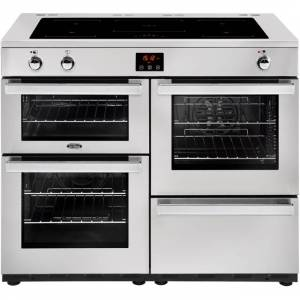Belling Cookcentre110Ei Prof 110cm Electric Range Cooker with Induction Hob - Stainless Steel - A/A Rated