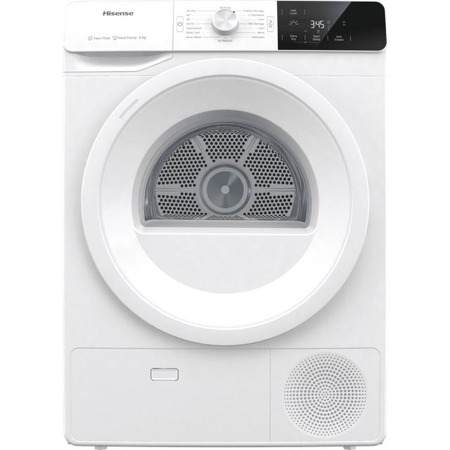 Hisense DHGE8013 8Kg Heat Pump Tumble Dryer - White - A+++ Rated