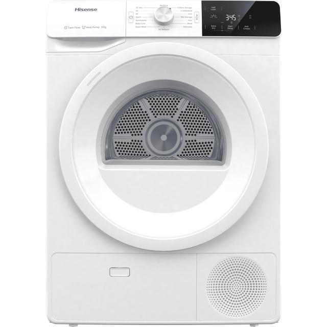 Hisense DHGE901 9Kg Heat Pump Tumble Dryer - White - A++ Rated
