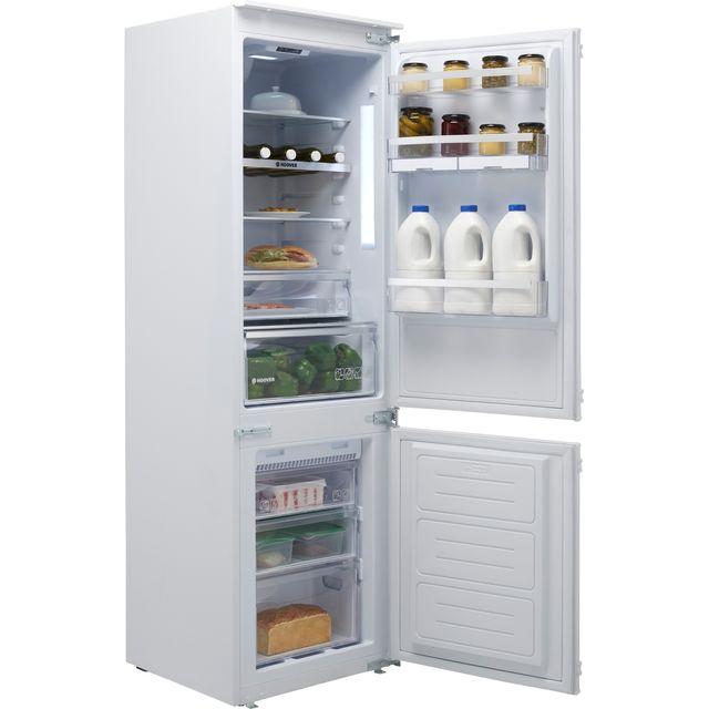 Hoover H-FRIDGE 500 BHBF182NUK Integrated 70/30 Frost Free Fridge Freezer with Sliding Door Fixing Kit - White - F Rated
