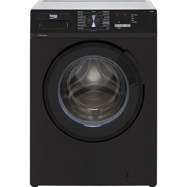Beko WTL74051B 7Kg Washing Machine with 1400 rpm - Black - D Rated