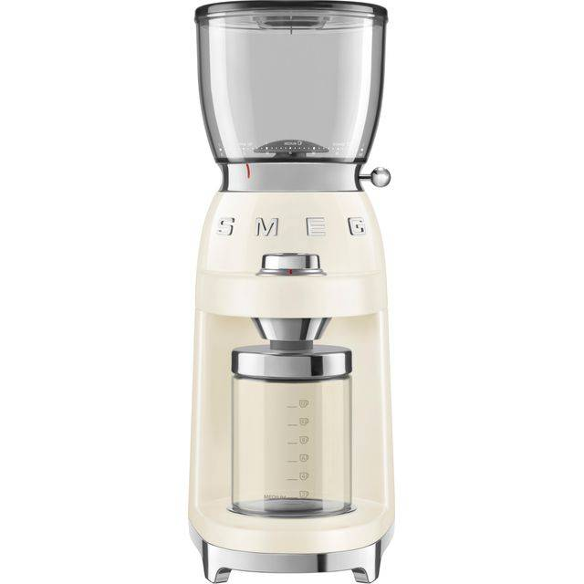 Smeg 50's Retro CGF01CRUK Coffee Grinder - Cream
