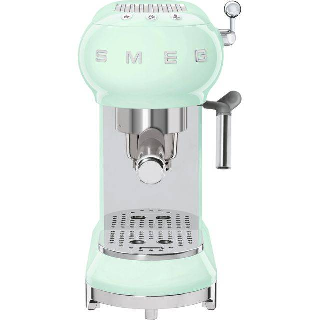 Smeg 50's Retro ECF01PGUK Espresso Coffee Machine - Pastel Green