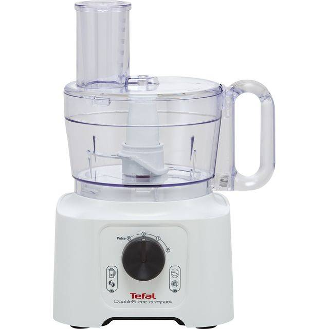Tefal DoubleForce Compact DO542140 Food Processor With 4 Accessories - White