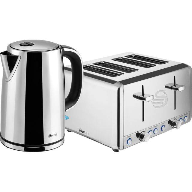 Swan STP2081N Kettle And Toaster Set - Stainless Steel