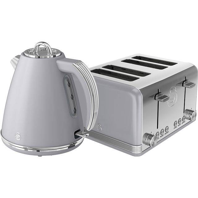 Swan Retro STP7041GRN Kettle And Toaster Set - Grey