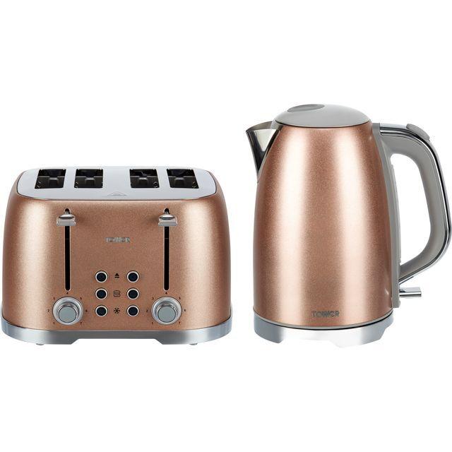 Tower Glitz AOBUNDLE007 Kettle And Toaster Set - Pink