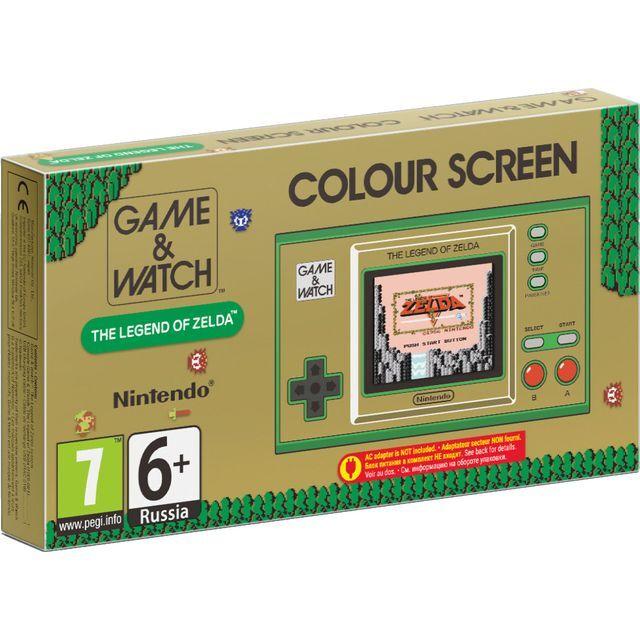 Nintendo Game & Watch with The Legend of Zelda, Zelda II: The Adventure of Link, The Legend of Zelda: Link's Awakening - Brown