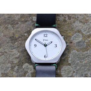 Finn Causeway Watch - White Dial/Black Strap