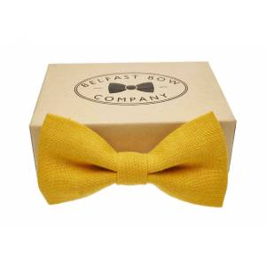 Belfast Bow Company Linen Bow Tie - Yellow