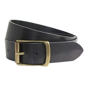 """Rollerston Black Leather Belt -36 Waist"""""""