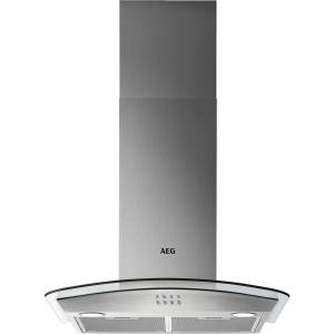 AEG DTB3653M 60cm Cooker Hood With Curved Glass Canopy - Stainless Steel