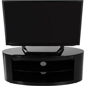 AVF Buckingham Oval Affinity TV Stand 1100 Satin Black / Black Glass