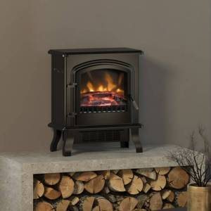 Be Modern Group BeModern Colman Freestanding Electric Stove Fire in Matte Black