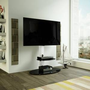 AVF FSL800LUS Lugano TV Stand Combi for TVs up to 65 - Silver
