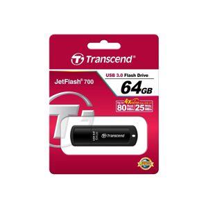 Transcend JF700 64GB USB 3.0 Flash Drive - Black