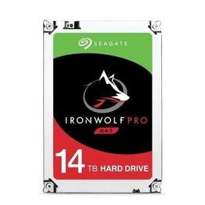 Seagate IronWolf Pro 14TB NAS Hard Drive 3.5 SATA III 6GB's 7200RPM 256MB Cache