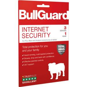 BullGuard - Anti-virus & Internet Security - 3 Devices - 12 Month Subscription