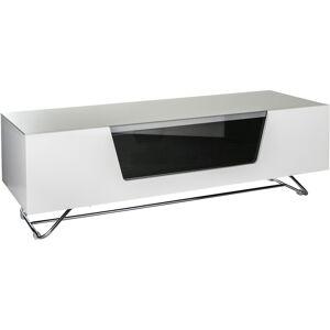 Alphason Design CRO2-1200CB-WHT Chromium 2 TV Cabinet for up to 55 TVs - White