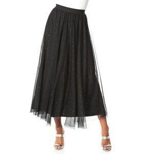 Roman Originals Mesh Sparkle Maxi Skirt