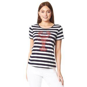 Roman Originals Lobster Stripe Print T-Shirt