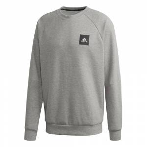 Adidas Must Have Crew Sweatshirt Men  - lightgrey - Size: Medium