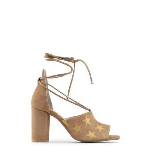 Made in Italia SIMONA - Spring - Summer collection  - Sandals,laces fastening, stars pattern  - 100% MADE IN ITALY  - Upper: 100% REAL LEATHER  - Insole: leather  - Sole: tunit  - Heel 9 cm - Size: 37