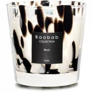 Baobab Black Pearls scented candle 8 cm