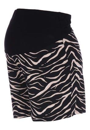 Peacocks Womens Maternity Over The Bump Zebra Print Shorts  - 18