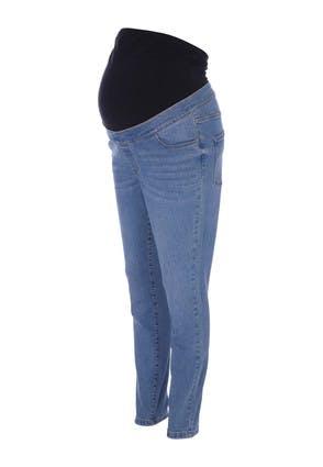Peacocks Maternity Light Blue Over The Bump Skinny Jeans  - 12