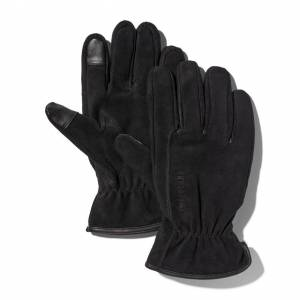 Timberland Utility Leather Gloves For Men In Black Black, Size M