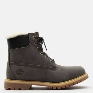 Timberland Premium 6 Inch Boot For Women In Grey Dark Grey, Size 3.5