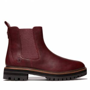 Timberland London Square Chelsea Boot For Women In Burgundy Burgundy, Size 5