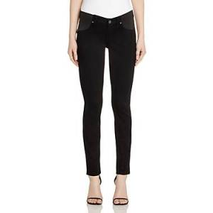 Paige Denim Verdugo Skinny Maternity Jeans in Black Shadow  - Female - Black Shadow - Size: 30