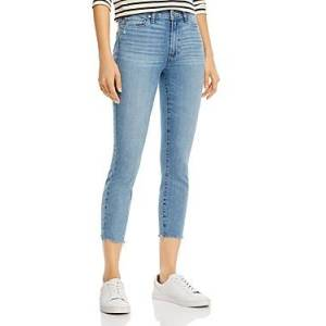Paige Hoxton Cropped Skinny Jeans  - Female - Jukebox Distressed W/ Ragged Hem - Size: 29