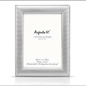 Argento Sc Dots Frame, 4 x 6  - Sterling Silver