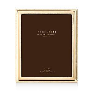 Argento Sc Double Bead Frame, 8 x 10  - Gold
