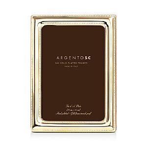 Argento Sc Double Bead Frame, 4 x 6  - Gold
