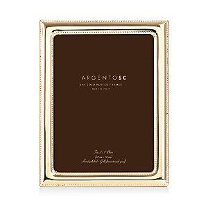 Argento Sc Double Bead Frame, 5 x 7  - Gold