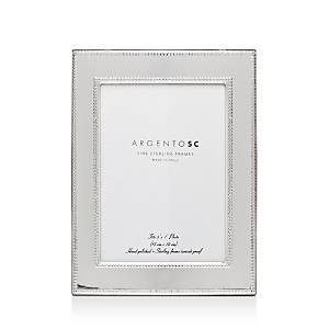 Argento Sc Amira Double-Bead Sterling Silver Frame, 5 x 7  - Silver
